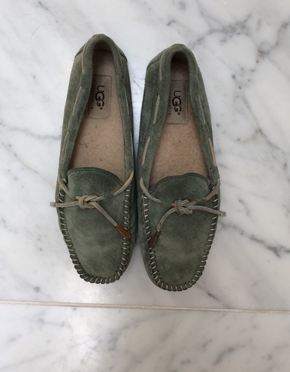 UGG Australia Driving Moccasin Suede green Flats Image 3