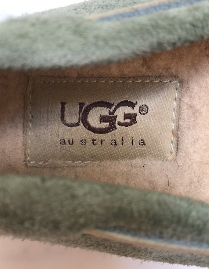 UGG Australia Driving Moccasin Suede green Flats Image 5