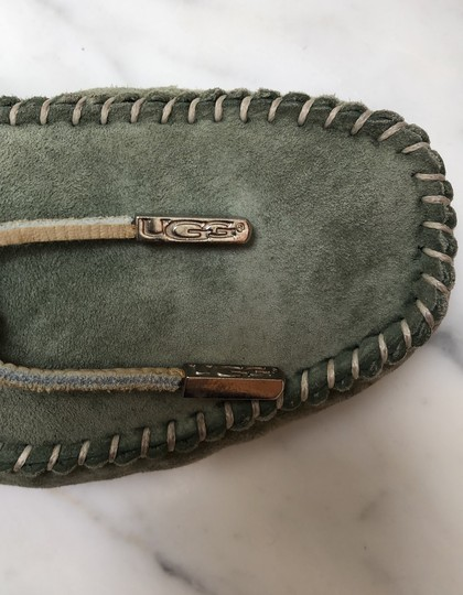 UGG Australia Driving Moccasin Suede green Flats Image 8