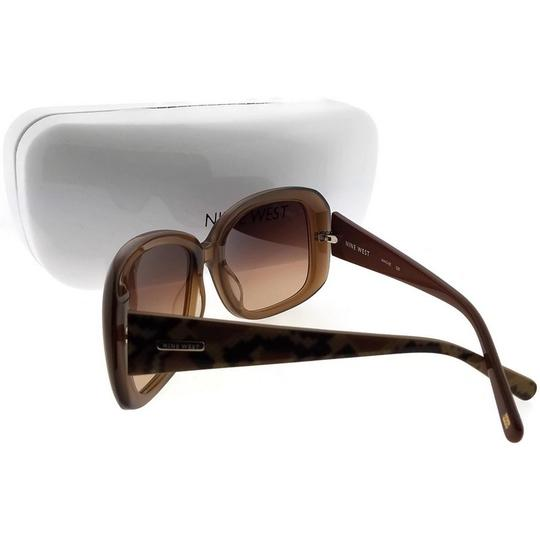 Nine West NW510S-220 Butterfly Women's Brown Frame Brown Lens Sunglasses Image 1