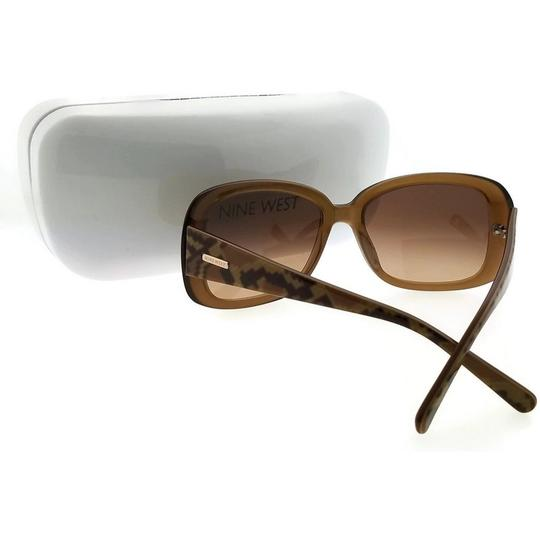 Nine West NW510S-220 Butterfly Women's Brown Frame Brown Lens Sunglasses Image 2