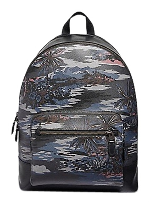 Item - ** Flash-sale ** West with Hawaiin Print F49131 Multicolor Coated Canvas Backpack
