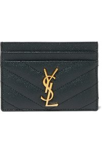 Saint Laurent Quilted Leather Card Holder Wallet