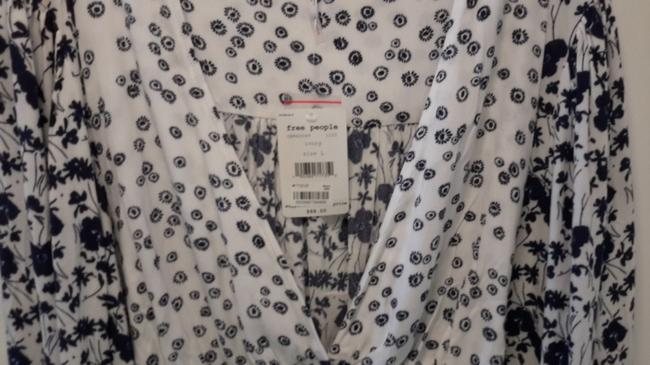 Free People Top Blue & White Image 3