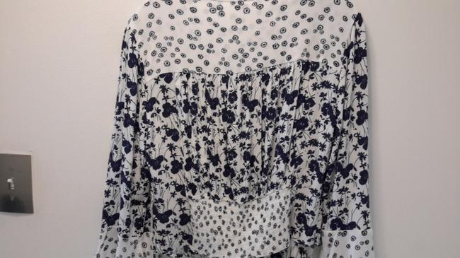 Free People Top Blue & White Image 4