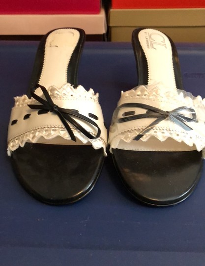 CL by Chinese Laundry black and white Sandals Image 1