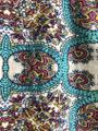 Anthropologie Printed Skirt teal and white print Image 3