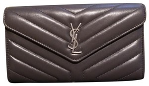 Saint Laurent Saint Lauren Nappa Luir Asphalt Wallet