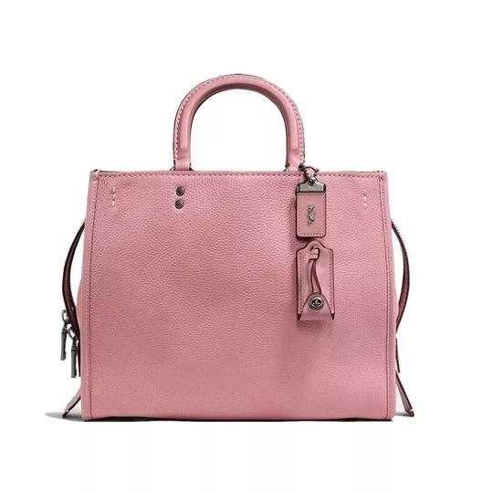 Preload https://img-static.tradesy.com/item/25285550/coach-rogue-1941-mixed-glovetanned-leathersuede-pink-23755-bnwt-dusty-rose-pebble-leather-satchel-0-0-540-540.jpg