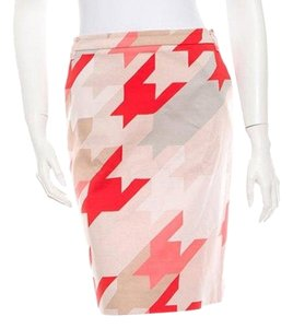 Salvatore Ferragamo Skirt Pink, Red, Beige