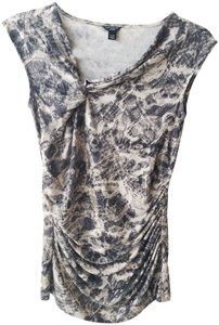 Ann Taylor Sleeveles Ruched Top Gray