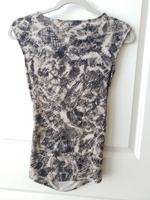 Ann Taylor Sleeveles Ruched Top Gray Image 1