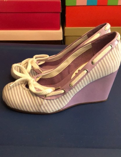 exchange by charles david lavender and white Wedges Image 2