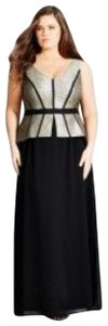 black and gold Maxi Dress by City Chic