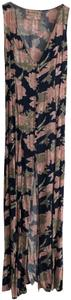 navy / pink / green print Maxi Dress by Urban Outfitters Maxi