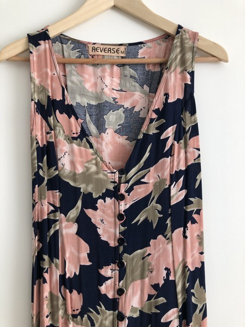 navy / pink / green print Maxi Dress by Urban Outfitters Maxi Image 1