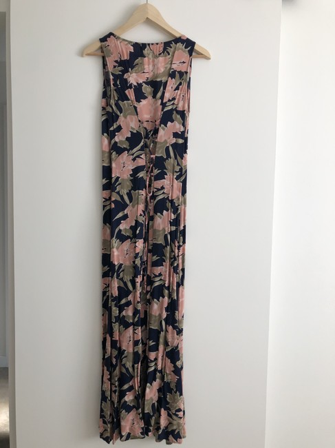navy / pink / green print Maxi Dress by Urban Outfitters Maxi Image 2