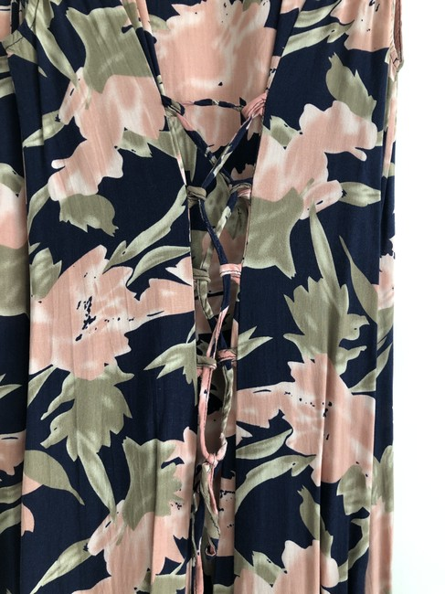 navy / pink / green print Maxi Dress by Urban Outfitters Maxi Image 3