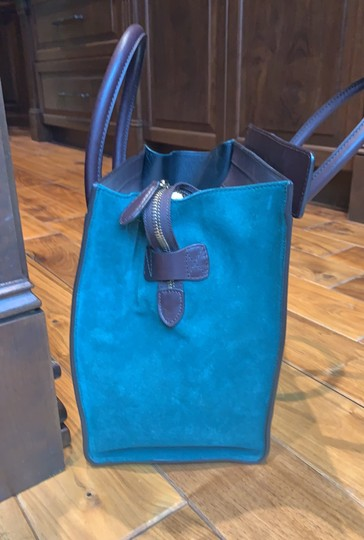 Céline Tote in brown, maroon and green turquoise Image 1
