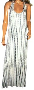 gray/white Maxi Dress by BeBop Tye-dye Maxi Boho