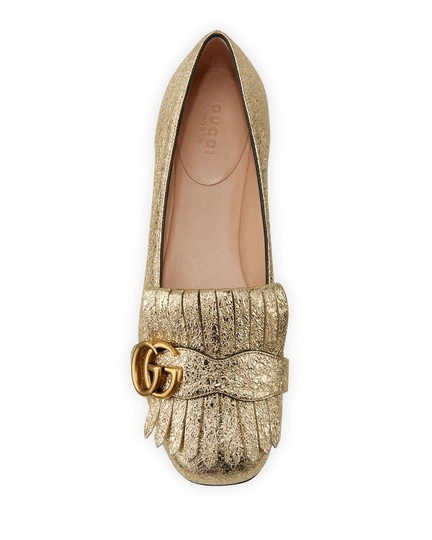 Gucci Loafers Espadrilles Marmont Galassia Gold Flats Image 1