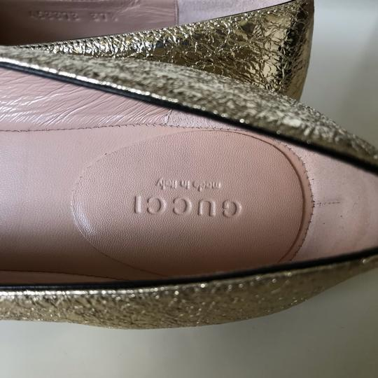 Gucci Loafers Espadrilles Marmont Galassia Gold Flats Image 10