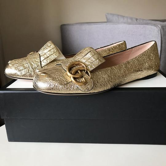 Gucci Loafers Espadrilles Marmont Galassia Gold Flats Image 5