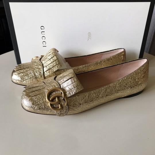Gucci Loafers Espadrilles Marmont Galassia Gold Flats Image 8
