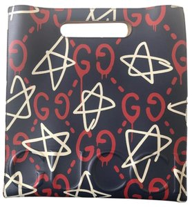 Gucci Leather Ghost Monogram Graffiti Limited Edition Tote in Blue