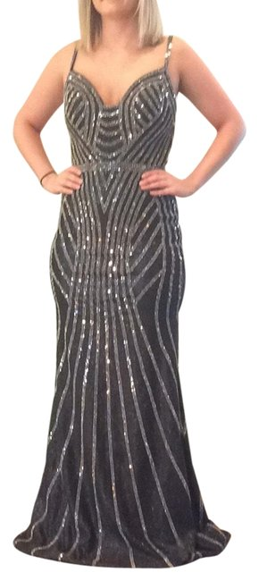 Item - Gunmetal/Silver Long Formal Dress Size 4 (S)