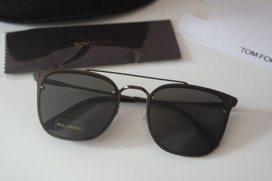 Tom Ford NEW Tom Ford TF546K Polarized Double Bridge Metal Sunglasses Image 1