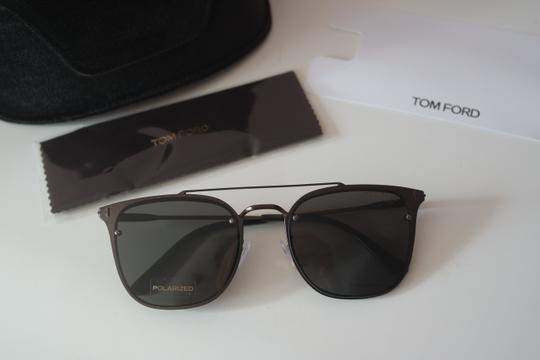 Tom Ford NEW Tom Ford TF546K Polarized Double Bridge Metal Sunglasses Image 4