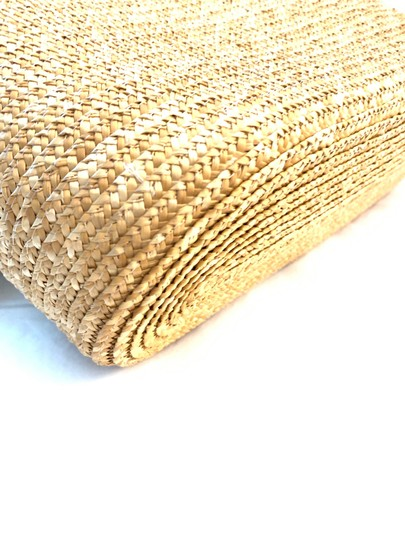 Wicker Bamboo Tote Satchel in taupe Image 4