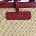 Banana Republic Natural and Red Straw Leather Tote Banana Republic Natural and Red Straw Leather Tote Image 8