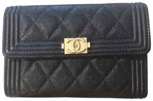 Chanel Boy Medium Flap Wallet Caviar GHW