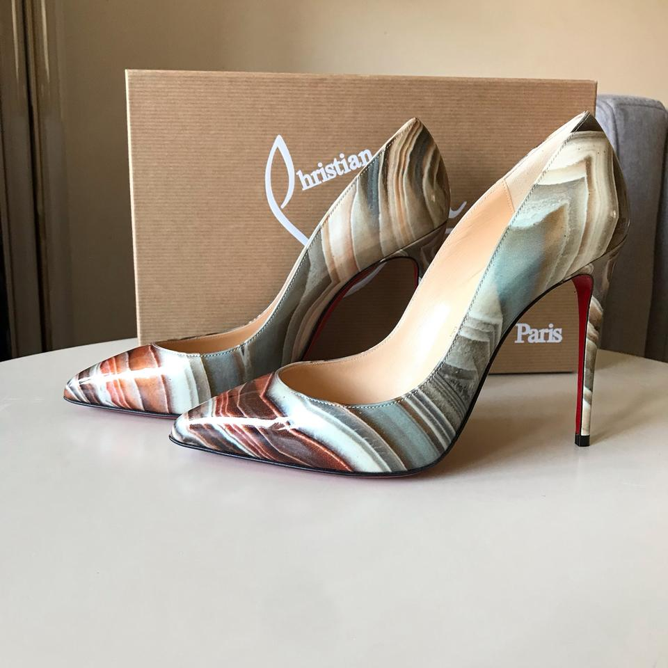 premium selection dc33e 67999 Christian Louboutin Multicolor Pigalle Follies 100 Agathe Patent Grey Pumps  Size EU 37 (Approx. US 7) Regular (M, B) 21% off retail