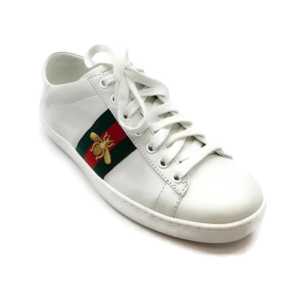 b7c5db518c4 Gucci White Ace Embroidered Bee Sneakers Size EU 36 (Approx. US 6 ...