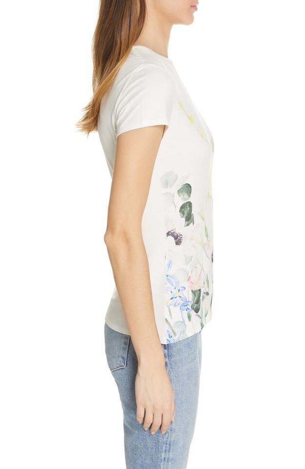 c1aa00cae Ted Baker White Bobiiee Elegance Fitted Tee Shirt Size 12 (L) - Tradesy