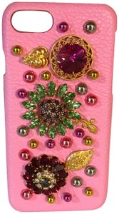 Dolce&Gabbana Baby Pink Swarovski Crystal And Pearls iPhone 6 7 or 8 s Case