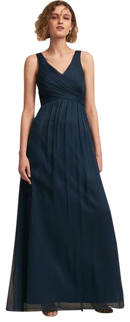Item - Navy Blue Anthropologie Angie Bridesmaid Maxi Marin S Long Formal Dress Size 4 (S)