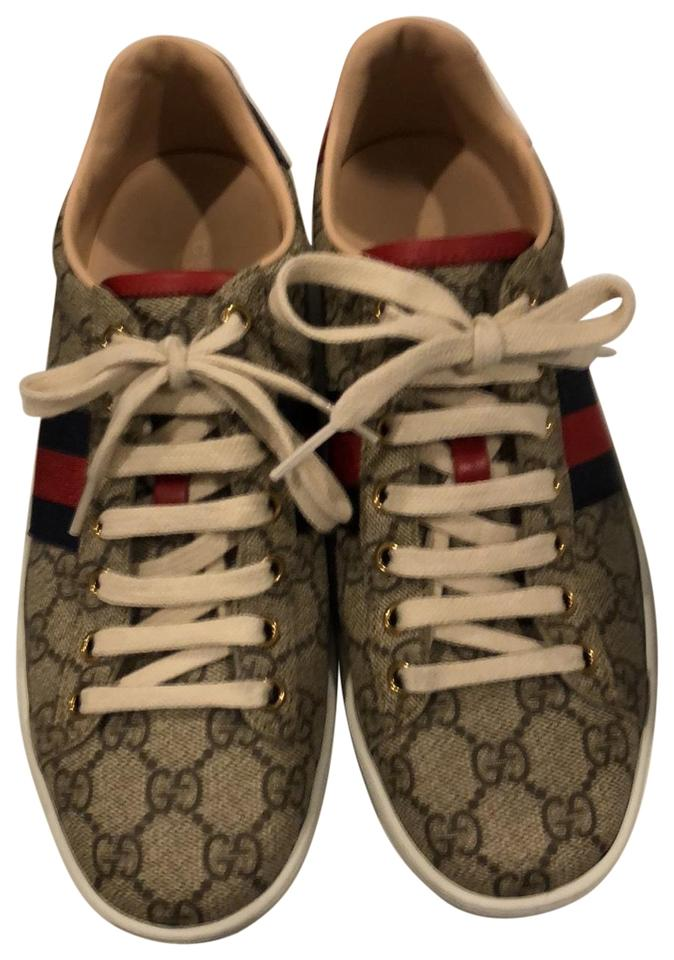 c0003bfb4ca Gucci Red Blue Gg Sneaker Women Sneakers Size EU 38 (Approx. US 8 ...