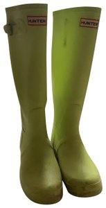 Hunter lime green / bright yellow Boots