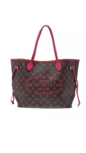 Louis Vuitton Tote in Red Rose Floral Collectors Monogram