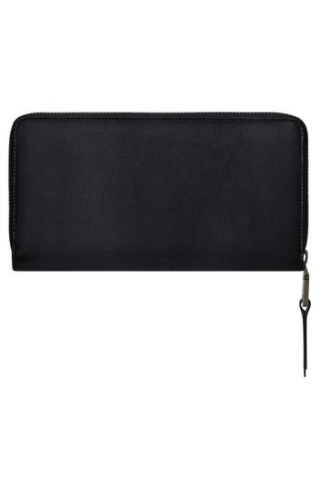 Givenchy Givenchy Embossed Logo Leather Zip Around Wallet Black Image 1
