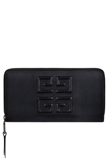Givenchy Givenchy Embossed Logo Leather Zip Around Wallet Black Image 10