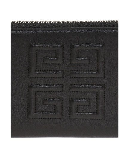 Givenchy Givenchy Embossed Logo Leather Zip Around Wallet Black Image 4