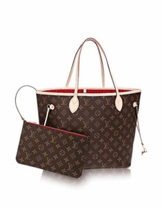 Louis Vuitton Neverfull Luxury Monogram Limited Edition European Tote in brown