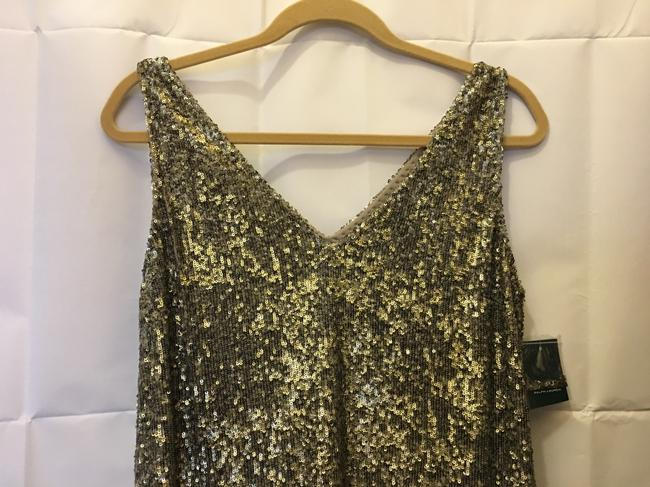 Lauren Ralph Lauren Sequin V-neckline Size 8 M Medium New With Tags Dress Image 1