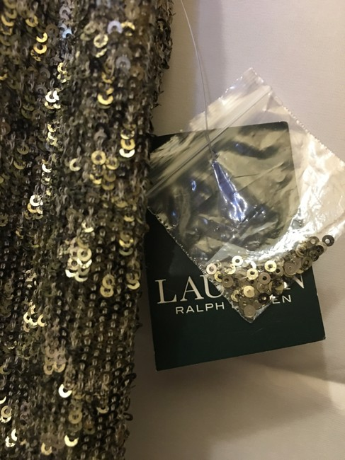 Lauren Ralph Lauren Sequin V-neckline Size 8 M Medium New With Tags Dress Image 3