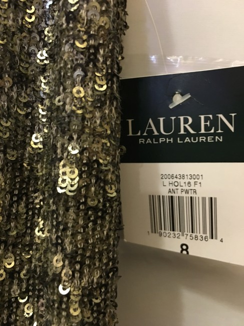 Lauren Ralph Lauren Sequin V-neckline Size 8 M Medium New With Tags Dress Image 4